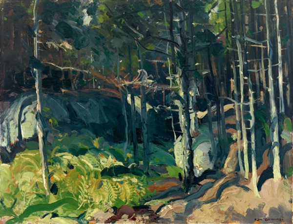 George Bellows Fern Woods oil on board 1913