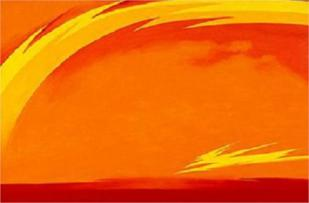 """From the Plains II"" (1954, oil on canvas)by Georgia O'Keeffe"