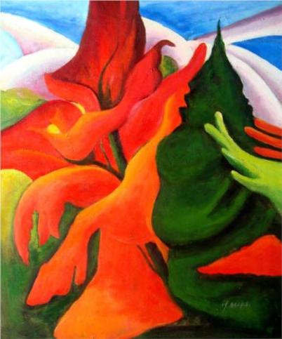 """""""Melting Volcano"""" (nd, oil on canvas)by Georgia O'Keeffe"""