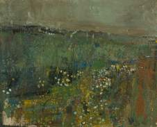 """Corn Feverfew III"" (1960, oil on board)"