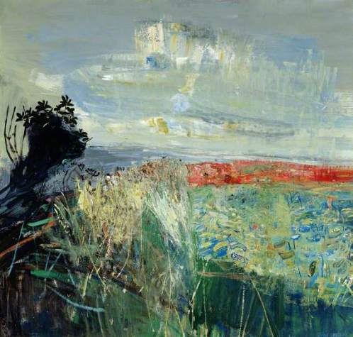 """""""Field of Barley by the Sea"""" (nd, oil on board)"""