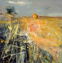 """Summer Fields"" (c1961, oil and grasses on hardboard)"