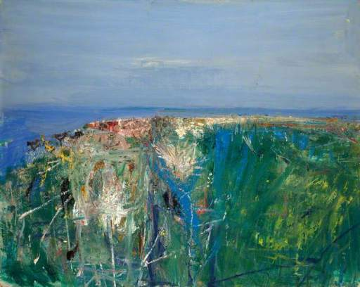 """Summer Grasses and Barley on the Clifftop"" (1962, oil on board)"