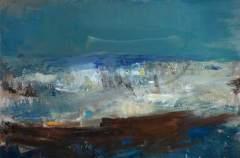 """Summer Sea"" (1961, oil paper on board)"