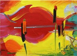 """""""Four Seasons: Summer"""" (nd, acrylic on canvas)by Peter Max"""