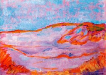 """Dune IV"" (1909, oil on cardboard)by Piet Mondrian"