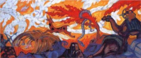 """Simoon"" (1915)by Serge Sudeikin"