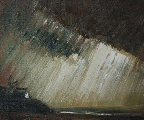 Theodore Major Coast Scene with Driving Rain