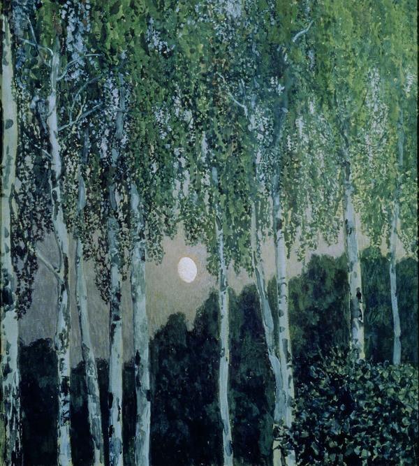 Aleksandr Golovin Birch Trees oil on canvas