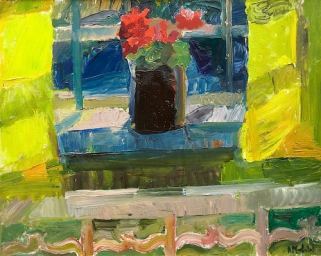 """""""Sunny Window"""" (nd, oil on canvas)by Astrid Munth de Wolfe"""