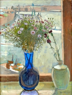 """""""View from the Window"""" (c1940, oil on canvas)by Axel Nilsson"""