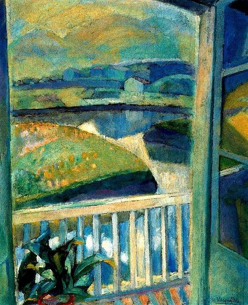 Daniel Vasquez-Diaz Window in Bidasoa, Fuenterrabia 1918