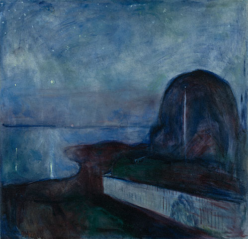 Edvard Munch Starry Night 1893 oil on canvas