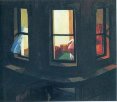 """Night Windows"" (1928, oil on canvas)by Edward Hopper"