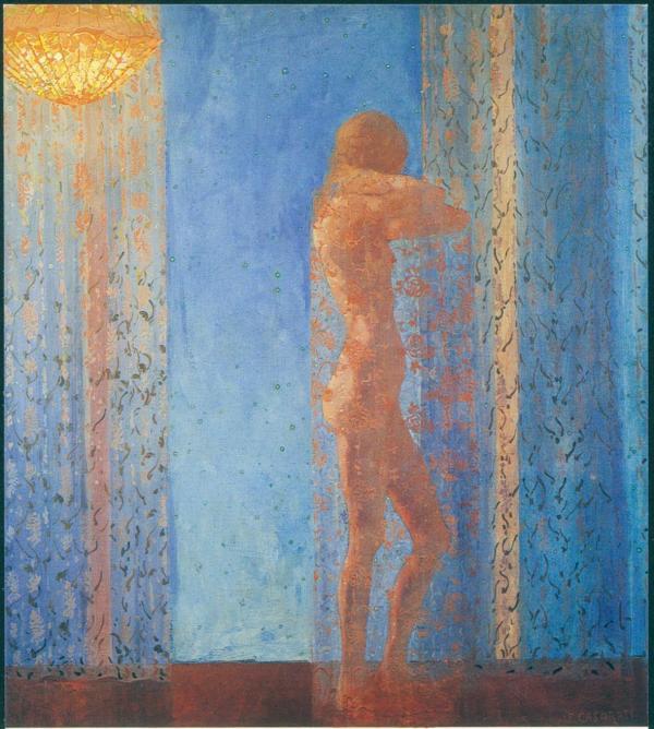 Felice Casorati Notturno 1912-13 oil on canvas