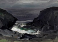 """The Coming Storm"" (1911, oil on panel)by George Bellows"