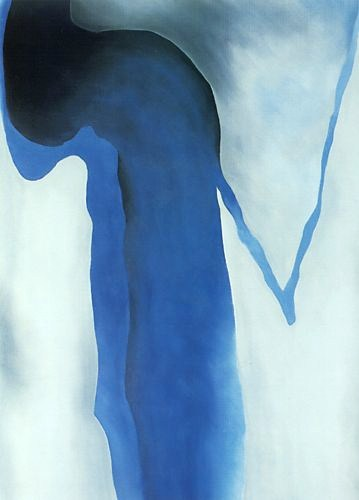 Georgia O'Keeffe Blue, Black, and Grey 1960