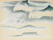 """Waves"" (1922, pastel on paper)by Georgia O'Keeffe"