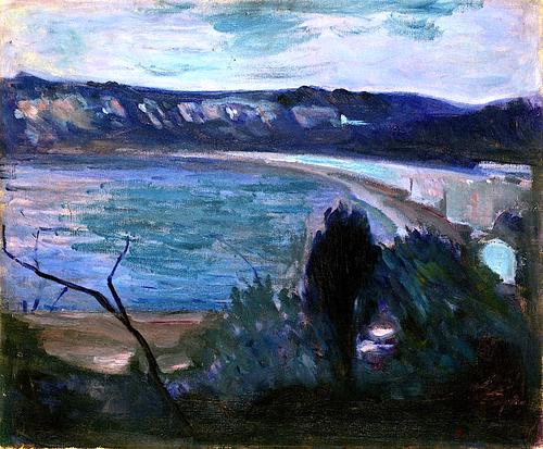 Gustav Klimt Moonlight by the Mediterranean 1892