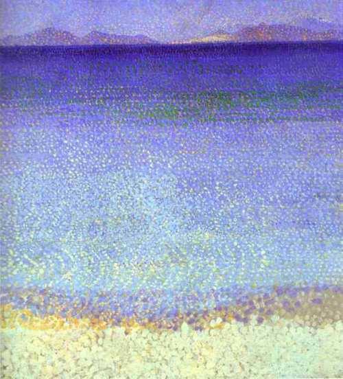 Henri Edmond Cross Les Iles d'or 1892 oil on canvas
