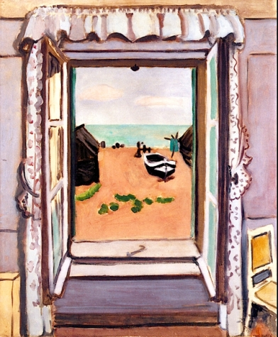 """Open Window, Etretat"" (1920, oil on canvas)by Henri Matisse"