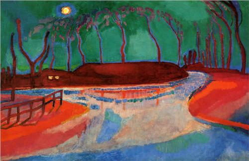 Jan Sluyters Full Moon on the Water 1912 oil on canvas