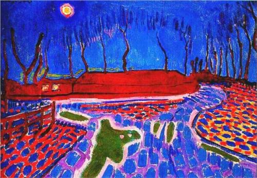 Jan Sluyters Landscape by Moonlight II 1911 oil on canvas