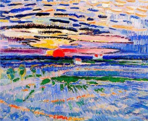 Jan Sluyters Sunrise oil on canvas 1910