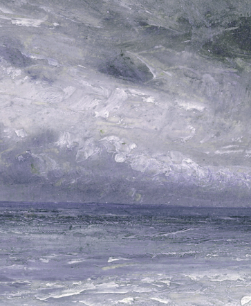 """Stormy Sea, Brighton"" (detail, 1818, oil on paper laid on canvas)by John Constable"