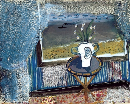 """View from a Window"" (1933, gouache and paper collage)by John Piper"