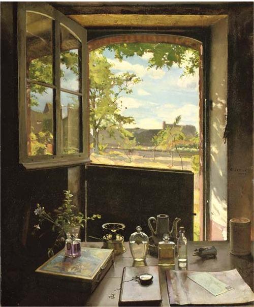 Konstantin Adreevich Somov View through a Window 1934