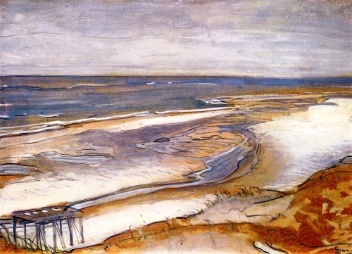 Max Beckmann Beach Landscape 1904 oil on cardboard