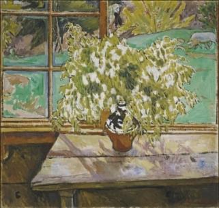 """Window, Tiraspol"" (1909, oil on canvas)by Mikhail Fyodorovich Larionov"