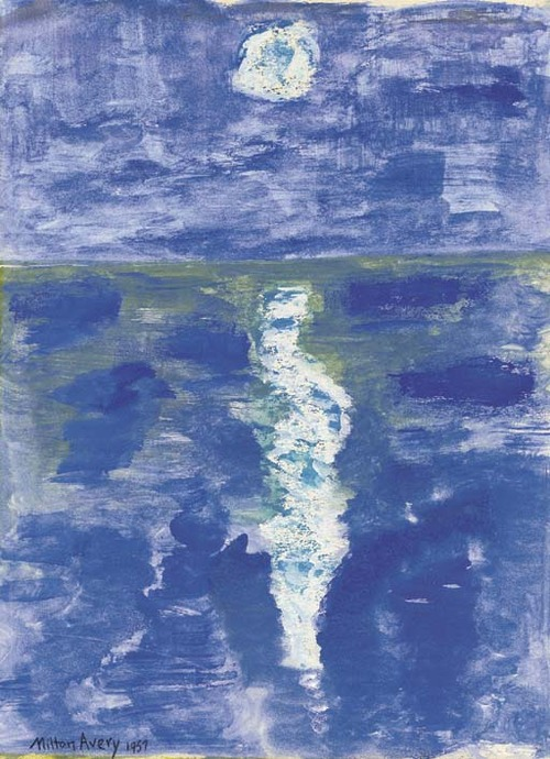 Milton Avery Moon Path 1957 watercolor on paper