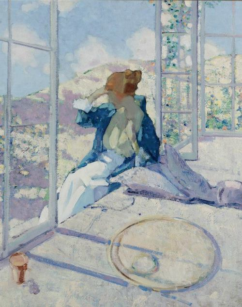 Richard Edward Miller Woman by a Window