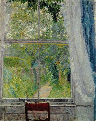 """View from a Window"" (1909, oil on canvas)by Spencer Frederick Gore"