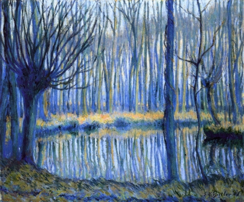 Theodore Earl Butler The Epte, Giverny 1908 oil on canvas
