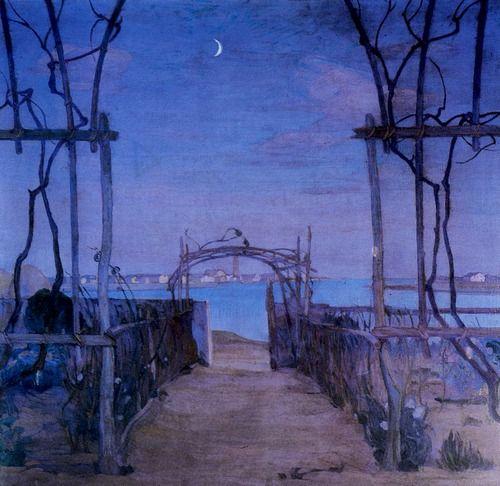 Umberto Moggioli Sera di Primavera aka Spring Evening, Venezia 1914