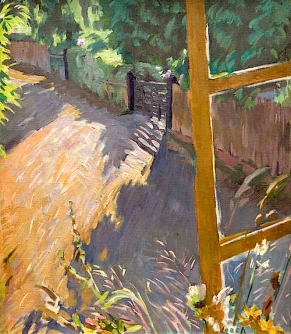 """From a Hotel Window"" (nd, oil on canvas)by William John Leech"