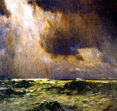 """The Black Squall"" (1937, oil on panel)by William Langson Lathrop"