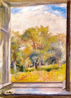 """""""A View from the Window"""" (nd, oil on canvas)by Wojciech Weiss"""