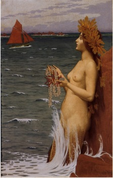 """La Sirene"" (aka Mermaid, 1896)by Alexandre Séon"