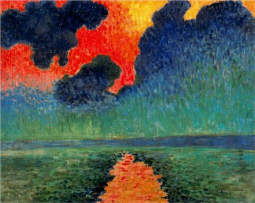 Andre Derain Effect of Sun on the Water, London 1906 oil on canvas