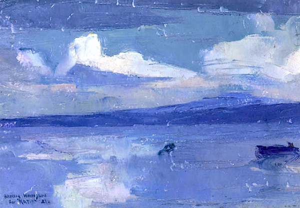 Armin Hansen Monterey Bay and El Toro Mountain 1921