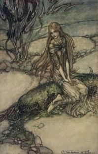 """Undine"" (1811, illustration)by Arthur Rackham"