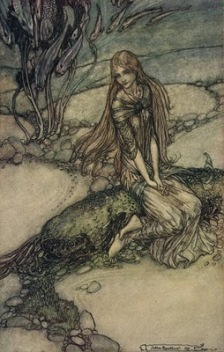 """Undine"" (1811, illustration)by Arthur Rackham"