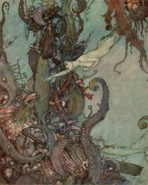 """The Little Mermaid"" (1911, illustration) by Edmund Dulac"