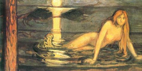 """The Lady from the Sea"" (aka Mermaid, 1896)by Edvard Munch)"