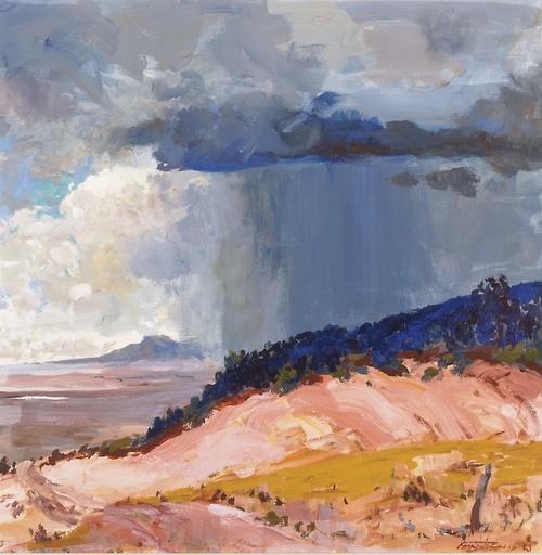 Fremont Ellis The Summer Rain acrylic on canvas