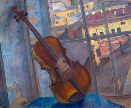 """A Violin"" (1918, oil on canvas)"